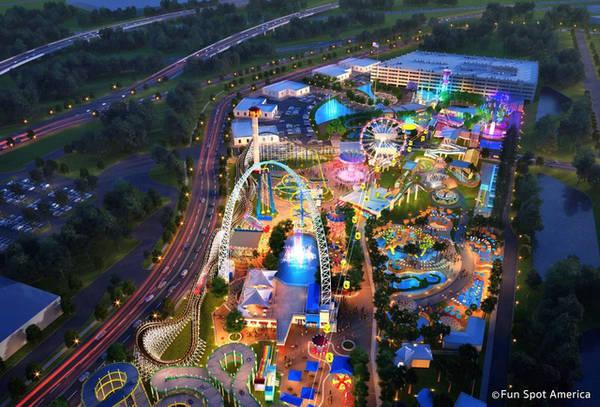 Công viên giải trí tại Orlando về đêm