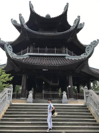 Tháp chuông ở chùa Bái Đính.