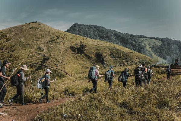 Cả đoàn quay lại ngã 3 đi xuống Phan Dũng (huyện Tuy Phong, tỉnh Bình Thuận). Tới trưa chúng tôi gặp một đoàn khác đang nghỉ tại đây. Họ chỉ đường cho chúng tôi đi tới quán nhà chị Ớt để ra cửa rừng.