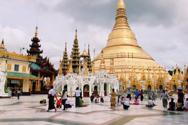 Chùa Shwedagon là công trình tiêu biểu của Phật giáo Myanmar.