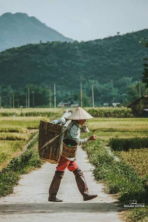 Dường như đã quá quen với sự ghé thăm của khách du lịch, khi xuất hiện ống kính máy ảnh, người dân nơi đây vẫn bình thản với công việc thường ngày.