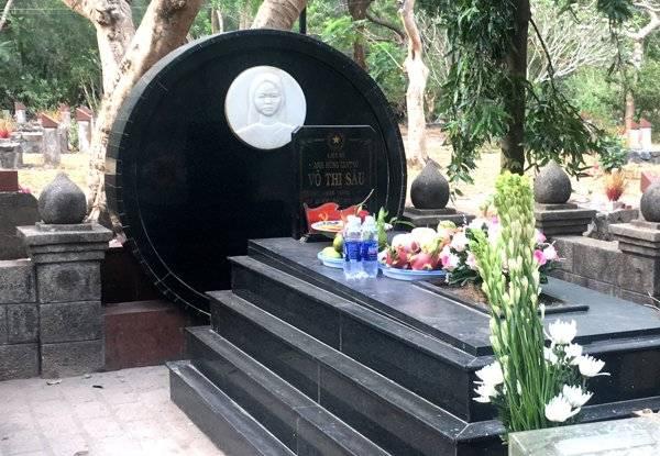 Mộ chị Võ Thị Sáu ở nghĩa trang Hàng Dương. Ảnh: Linh Hương