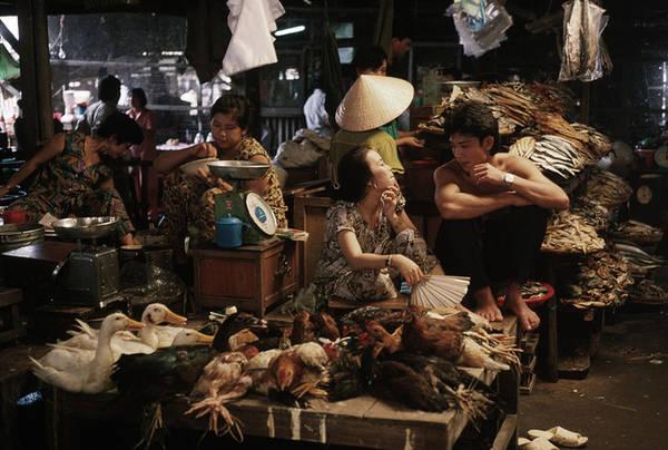 Hình ảnh đời thường của một khu chợ ở Cần Thơ.