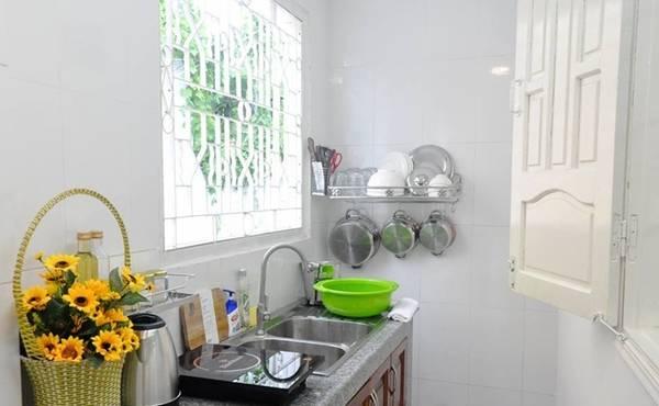 Các căn phòng không tạo cảm giác đi du lịch mà như ở nhà, đầy đủ tiện nghi, du khách có thể mua đồ về nấu nướng. Giá một căn từ một triệu đồng trở lên. Ảnh: Gác Nhỏ.