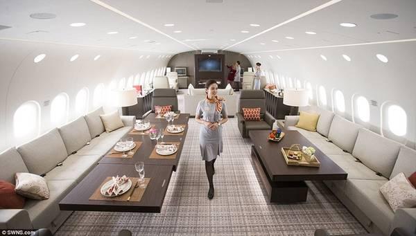 """Dream Jet hứa hẹn đem đến """"dịch vụ bay bảy sao"""" cho hành khách với hệ thống lọc và cấp ẩm cho không khí trong lành hơn, hệ thống giảm tiếng ồn để chuyến bay êm ái nhất có thể."""