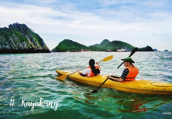 Nếu chưa thử chèo thuyền kayak, bạn đã bỏ lỡ điều tuyệt nhất ở Cát Bà. Chuẩn bị sức khỏe tốt và qua vài bước hướng dẫn nhanh chóng của hướng dẫn viên, một hành trình đáng nhớ đang chờ bạn.
