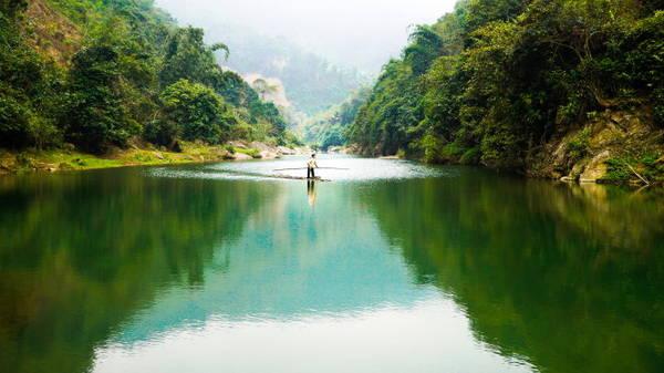 Dòng sông Bứa trong xanh - Ảnh: Hải Dương