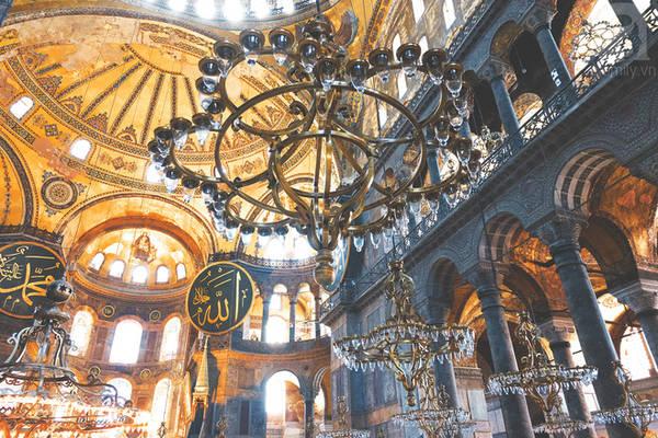 Bên trong Hagia Sofia