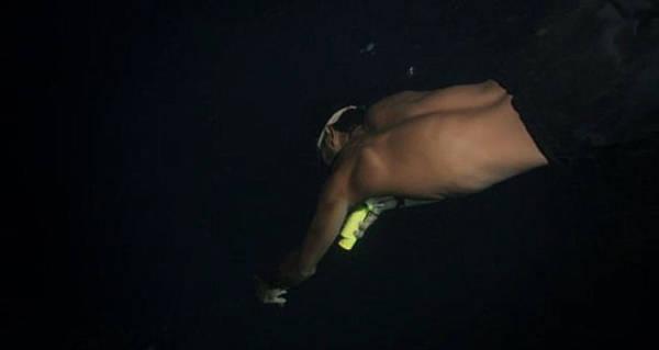 """Theo Moses, họ thường tắt đồng hồ và đèn pin khi bơi lội vào ban đêm để tránh việc thu hút sự chú ý của cá mập. """"Nếu nhìn thấy một con cá mập, hãy nhìn vào mắt nó"""", Moses tiết lộ bí kíp."""