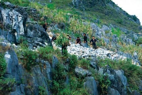 Người dân Đồng Văn phải ghè núi ghè đá để có những bữa cơm qua ngày
