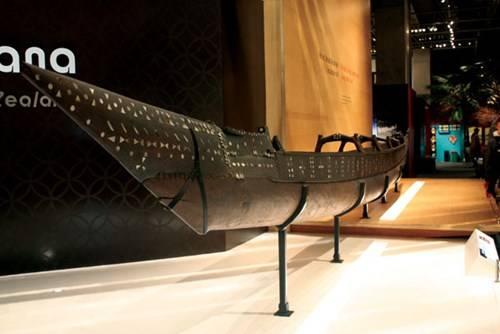 Thuyền cổ của thổ dân Maori ở Bảo tàng Te Papa