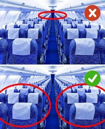 Chọn ghế ngồi phía cuối khi đang bị ốm Khi có dấu hiệu ốm, bạn không nên ngồi ghế ở phía cuối máy bay cũng như các phương tiện giao thông khác. Để tránh cảm giác khó chịu, bạn nên chọn ghế phía trước hoặc gần cánh máy bay. Một ngày trước khi bay cũng là thời điểm nhạy cảm, bạn chú ý về đồ ăn không nên là đồ chiên xào, quá nhiều chất béo, không uống đồ có cồn.