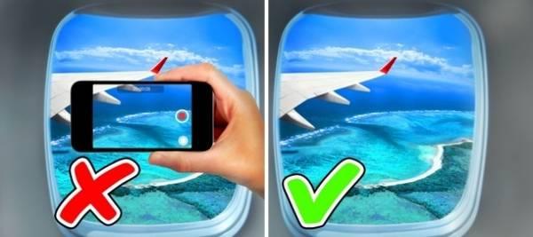Sử dụng điện thoại trên máy bay Không nên cố gắng đăng ảnh khi đang trên máy bay. Tín hiệu từ thiết bị của bạn có thể làm cản sóng của hệ thống định vị, phi công có thể không tiếp nhận được thông tin từ các kiểm soát viên không lưu.
