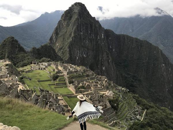 Caterina Otero ở Machu Picchu