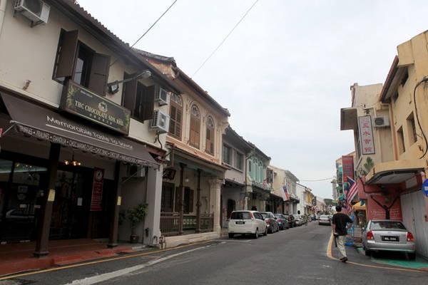 Phố Hoa kiều ở Malacca - Ảnh: Thủy Trần