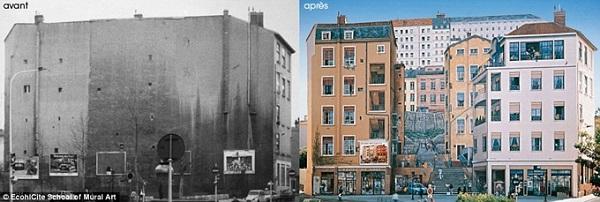 """Theo Halim Bensaïd, một nghệ sĩ tranh tường quốc tế, Lyon còn là một thành phố mang màu sắc u tối, ảm đạm khi họ mới bắt đầu. """"Nơi đó chỉ nổi tiếng vì tên tuổi Paul Bocuse và đường hầm Fourvière. Đó là một nơi buồn tẻ, mang dáng dấp của một thành phố công nghiệp và ô nhiễm""""."""