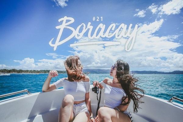 Theo chân hai cô bạn xinh đẹp khám phá thiên đường biển Boracay