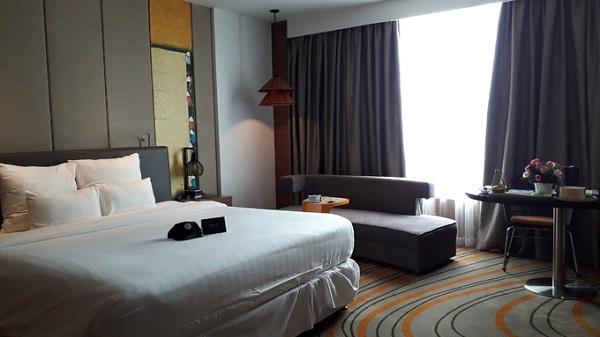 Một trong những khách sạn 5 sao đầu tiên ở Vũng Tàu có nhiều dịch vụ nghỉ dưỡng cao cấp, và chỉ cách bờ biển 550m là Pullman. Ảnh: Hương Chi.