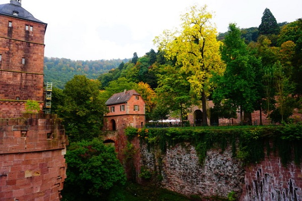 Với tôi, mỗi chuyến đi, mỗi trải nghiệm đều để lại một bài học hay. Trong ảnh: Một góc tuyệt đẹp ở lâu đài Heidelberg (Đức).-Ảnh: Công Nhật