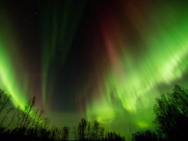 Alaska cũng nằm trong danh sách những địa điểm ngắm cực quang lung linh nhất năm nay. Hiện tượng nguyệt thực toàn phần được dự đoán sẽ xảy ra vào rạng sáng ngày 31/1, từ 3h51 đến 4h29 giờ địa phương khi mặt trăng chuyển dần sang màu hồng hoặc đỏ, xung quanh là ánh sáng xanh liên tục thay đổi.