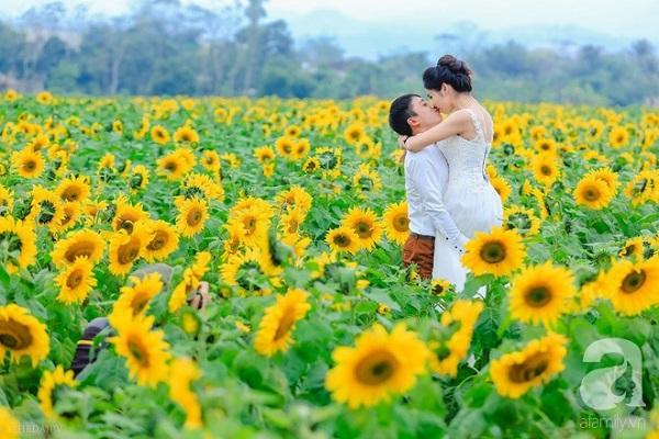 Nhiều cặp đôi tận dụng thời điểm này để dắt nhau tới chụp ảnh cưới.