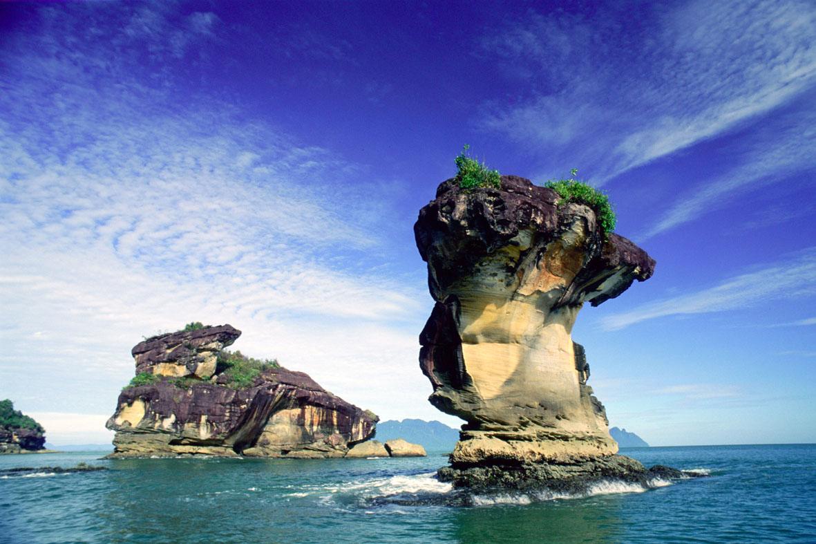 Tại Kuching có rất nhiều công viên quốc gia, trong đó Bako là công viên lâu đời nhất tại Sarawak, nằm cách Kuching 37km. Bako là nơi cư trú của nhiều loài động thực vật phong phú của Borneo, như khỉ có vòi, loài lợn có râu, khỉ má bạc, những loại cây ăn thịt và các loài phong lan hoang dã. Bako còn có nhiều cảnh đẹp với những bãi biển nguyên sơ, thưa vắng du khách.