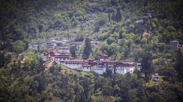 Pháo đài lớn nhất Bhutan ở Trongsa