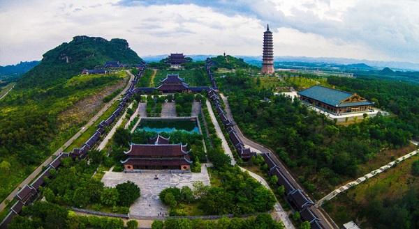 Toàn cảnh chùa Bái Đính - Ninh Bình - Ảnh: chuabaidinhninhbinh