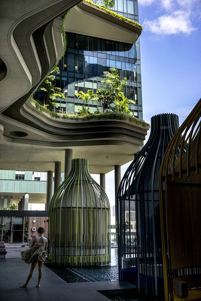 Sảnh khách sạn Parkroyal - Ảnh: Suzanne Lee