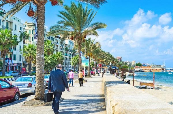 Alexandria, Ai Câp: Thành phố cảng Địa Trung Hải hấp dẫn du khách nhờ những đường phố rợp bóng cọ, các quán cà phê cổ và ngọn hải đăng từ thời Hi Lạp cổ.