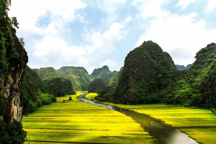 Cảnh đẹp ở Ninh Bình. Ảnh: Telegraph