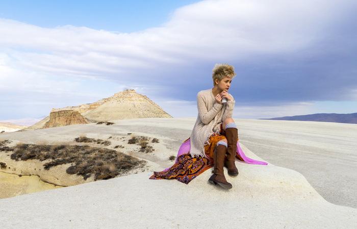 Nữ du khách Việt tại Cappadocia (Thổ Nhĩ Kỳ) - Ảnh: KHANG NGUYỄN