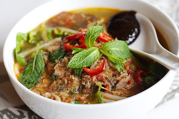 Món bún cá chua cay Assam laksa - Quán Air Itam - Ảnh: wp.com
