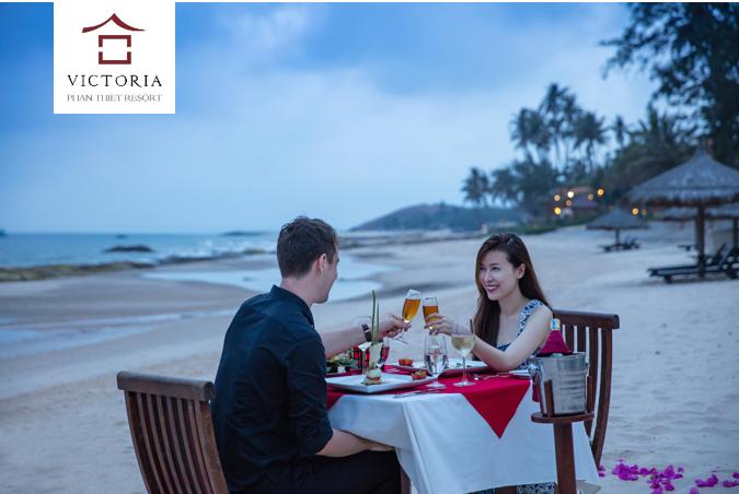 Hay ăn tối lãng mạn ngoài biển cùng người ấy