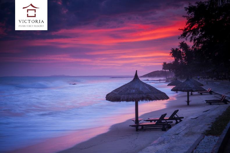 ... hay hoàng hôn thì bãi biển tại Victoria Phan Thiết vẫn mang những nét đẹp rất riêng