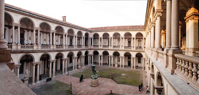 The Renaissance Palazzo di Brera được xây dựng từ giữa năm 1651 đến năm 1773. Ảnh: Jessica Norah