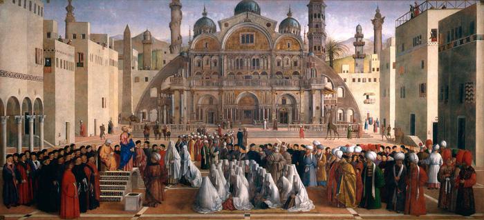 Bức tranh thánh Saint Mark đang giảng đạo ở Renaissance Palazzo di Brera. Ảnh: Jessica Norah