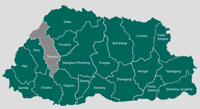 Thủ đô cao thứ 5 trên thế giới  Nằm ở độ cao 2.334 m so với mực nước biển, Thimphu là thủ đô cao thứ 5 thế giới, sau La Paz của Bolovia (3.640 m), Quito của Ecuador (2.850 m), Bogota của Colombia (2.625 m), và Addis Ababa của Ethiopia (2.355 m). Tới đây du khách sẽ không tránh khỏi việc sốc độ cao, hơi khó thở khi phải di chuyển lên cao.