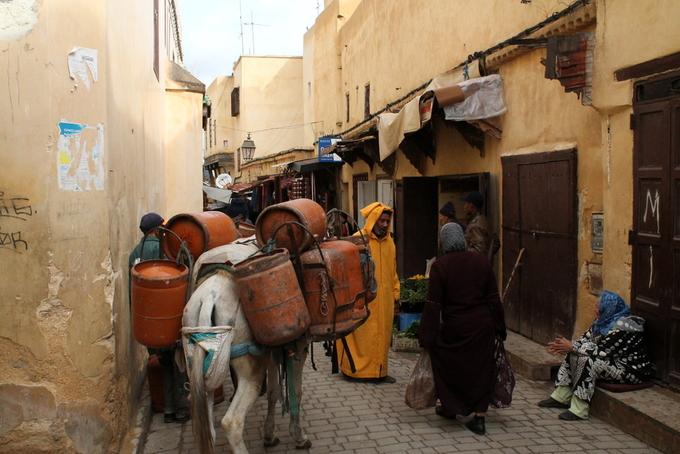 Fes-el-Bali, Morocco  Đôi khi xe hơi là một thứ gì đó xa lạ và không cần thiết, điều này đã được chứng minh ở nơi được gọi là mê cung của Morocco, Fes-el-Bali (hay còn gọi là Medina of Fez). Lý do đơn giản là 9.400 con hẻm ở đây quá nhỏ cho bất kỳ loại phương tiện hiện đại nào, chưa kể còn bị chen lấn bởi biển quảng cáo, hàng quán, những bờ tường cao vút của nhà thờ hồi giáo và các xưởng da. Khi cần chở hàng hóa, phương tiện đầu tiên người ta nghĩ tới là lừa hoặc ngựa. Ảnh: Onistravelling.