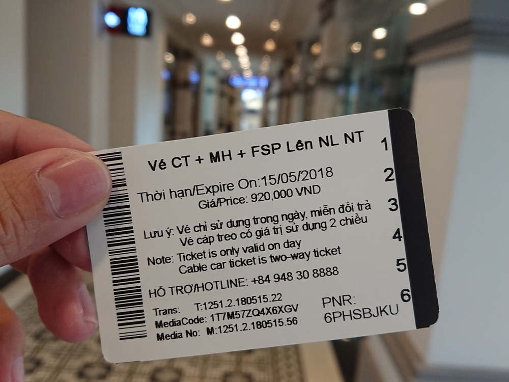 Với tấm vé này, bạn sẽ được đi tuyến tàu hoả leo núi Mường Hoa khứ hồi, cáp treo fansipan khứ hồi và tàu hoả leo núi 1 chiều lên đỉnh fansipan. Ảnh: Tiểu Duy