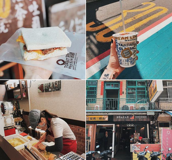 """Bữa sáng ngày hôm sau, Yến Trang - Yến Nhi ăn vội miếng sandwich thơm mềm mịn kẹp trứng, thịt heo chiên ướp vị cay và sốt mayonnaise mang đậm hương vị Đài Loan. Quán tuy nhỏ nhưng khách đông và chủ yếu bán take away. Ở đây có cả hamburger và sandwich kẹp rau. Cửa hàng có cả website và rất nhiều chi nhánh ở Đài Loan. Yến Nhi cho hay: """"Thật ra mình đến khu này để tìm một nhà hàng khác để dùng bữa sáng nhưng vì chưa mở cửa nên tạt luôn qua đây vì thấy đông và vì để kịp cho cho hành trình của ngày. Thế mà cũng khá ngon, quán mở từ 5h30 đến 13h, mỗi món khoảng 30 Đài tệ đến 75 Đài tệ, quán nằm tại quận Songshan, Đài Bắc""""."""