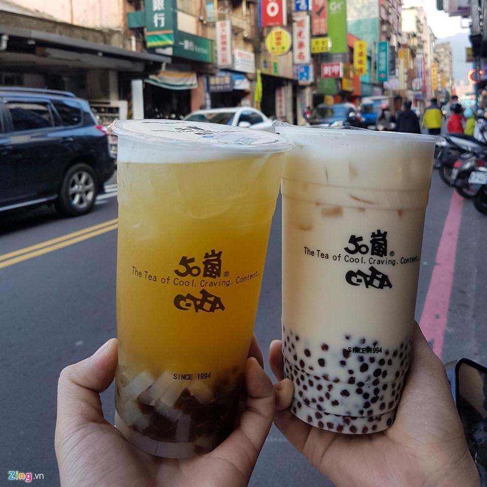 Trà sữa là thức uống nổi tiếng của Đài Loan.