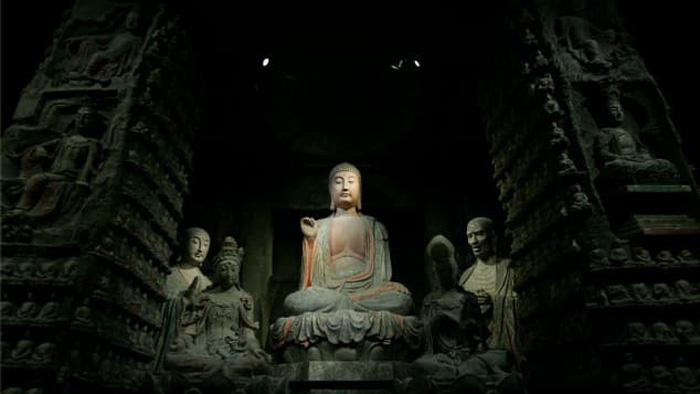 Các tượng Phật hơn 1.000 năm tuổi tại bảo tàng lịch sử tỉnh Thiểm Tây. Ảnh CNN Travel