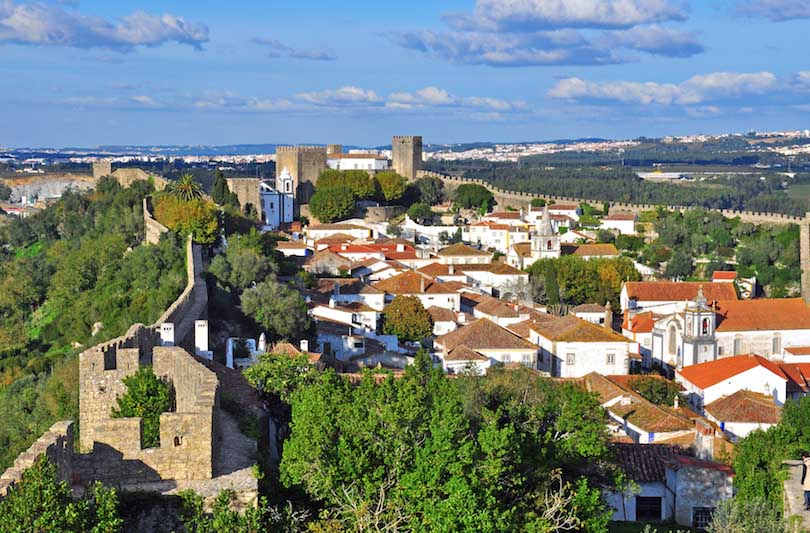 Panorama of Obidos, Portugal