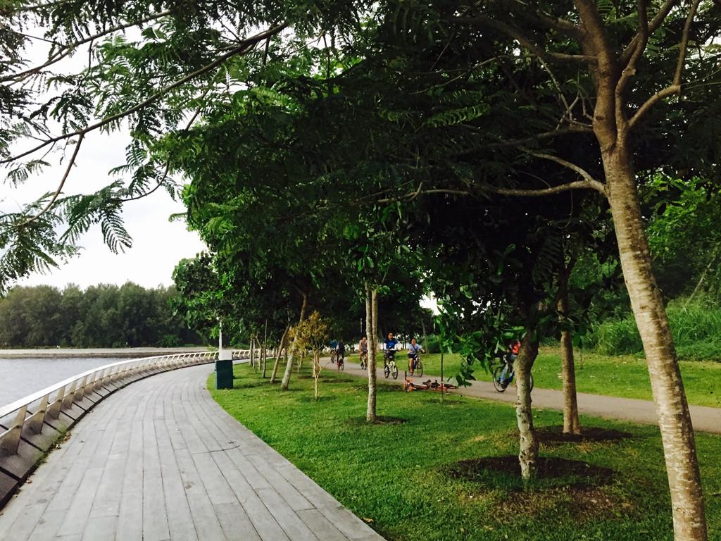 Tuy là đất nước phát triển nhưng Singapore vẫn giữ được những nét bình yên trong lòng thành phố.