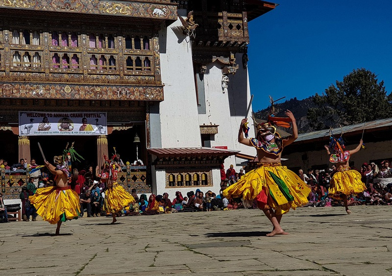 Lễ hội ở Gangtey, Bhutan - Ảnh: Hải Piano