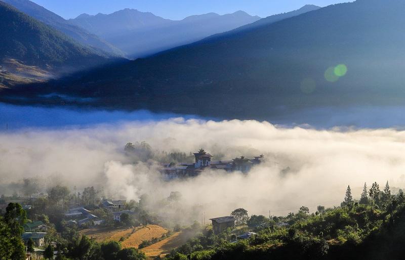 Mây núi Bhutan - Ảnh: Hải Piano
