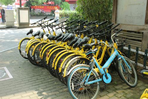 Dịch vụ bike-sharing rất phổ biến ở Trung Quốc.