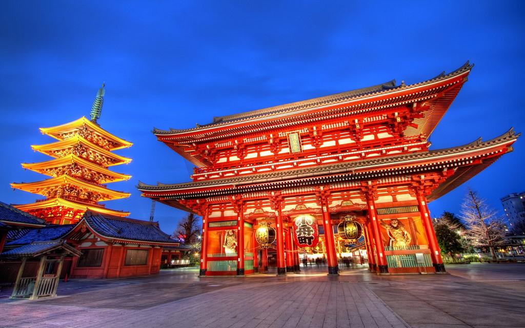 Đền thờ Taiheji hay còn gọi là đền thờ Osaka, là một trong những điểm tham quan bạn không thể bỏ qua. Ảnh: Imgur.