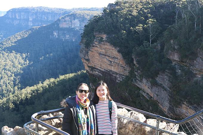 View chụp ảnh triệu đô của thác nước Wentworth, một phần của dãy Blue Mountains.
